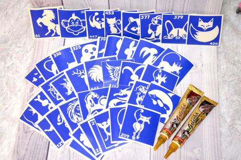 buy temporary tattoo stencils Kit #7 Animals