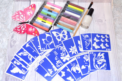 buy temporary tattoo stencils Kit #1 Spring