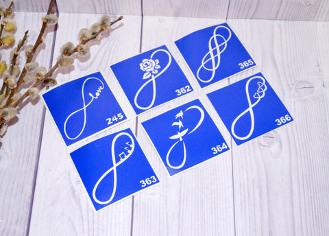 buy temporary tattoo stencils Kit #13 Infinity
