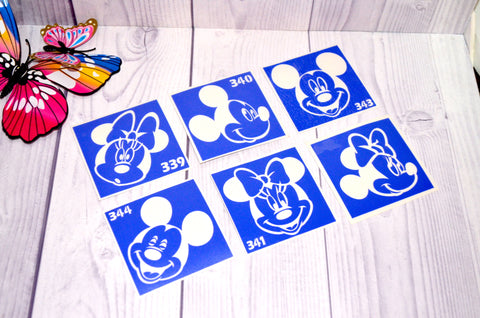 buy temporary tattoo stencils Kit #9 Mickey and Minnie Mouse