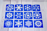 buy temporary tattoo stencils Kit #44 Snowflakes
