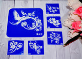buy temporary tattoo stencils Kit #21 Openwork flowers