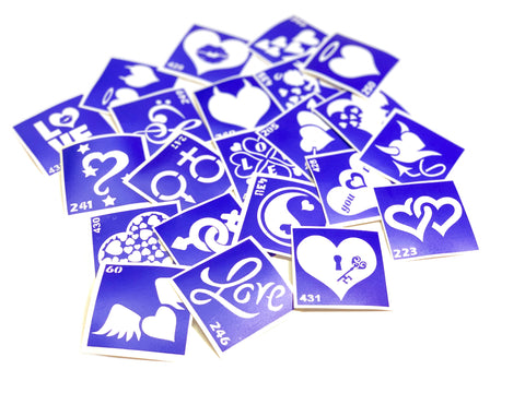 buy temporary tattoo stencils Kit #36 Love