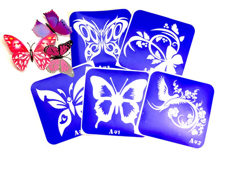 buy temporary tattoo stencils Kit #25 Big Butterflies