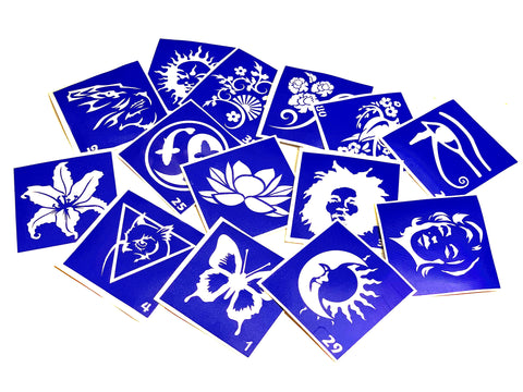 buy temporary tattoo stencils Kit #41 Different and new