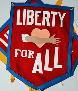 Liberty for All Heart Hug Banner