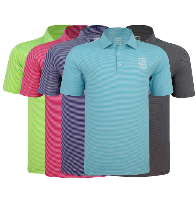 CLASSIC 2.0 MICRO STRIPE GOLF POLO SHIRT MULTI STRETCH UPF 30+
