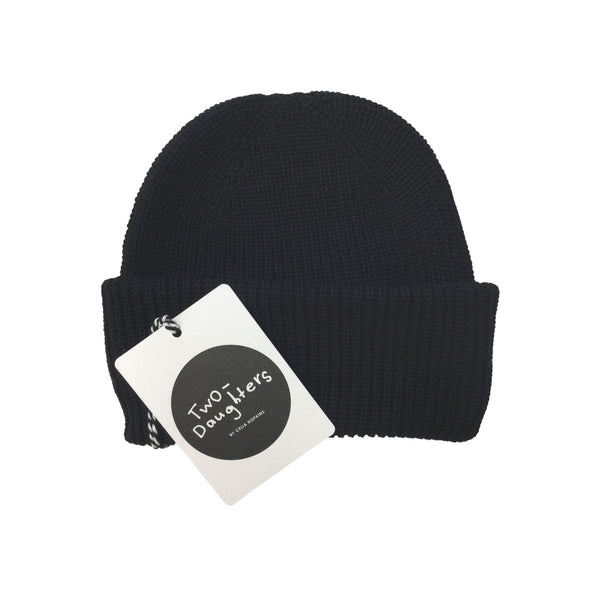 luxury merino beanie black