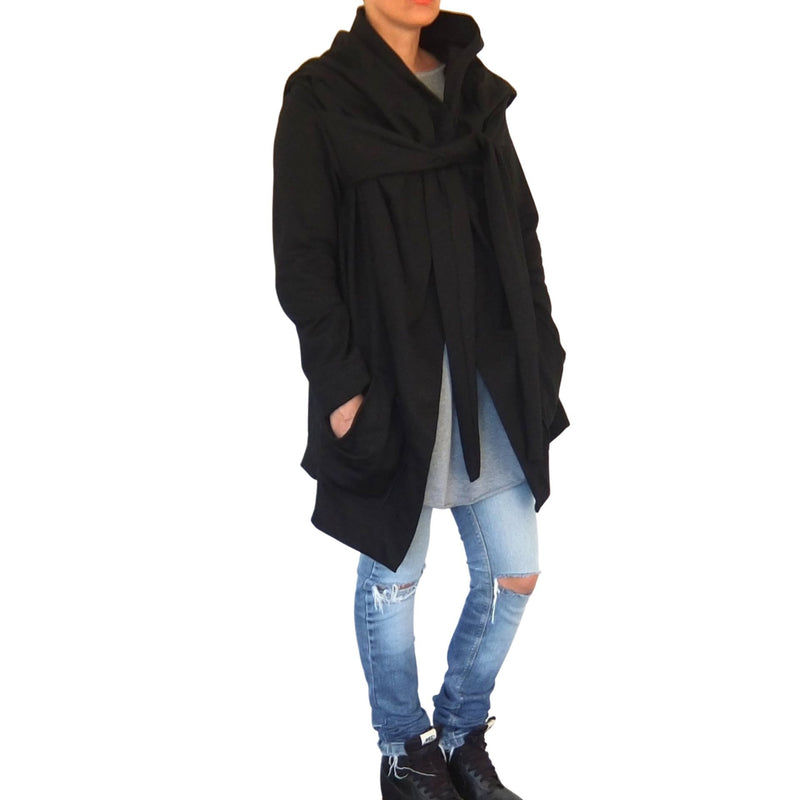capsule cult hood wrap black