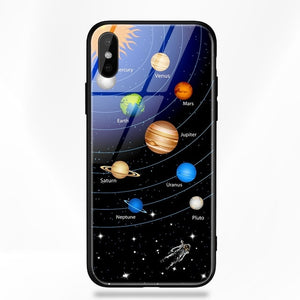 iPhone X Space Glass Case