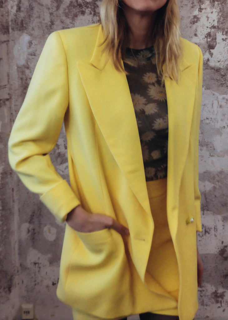 Vintage Rare Gianni Versace Yellow Suit Set