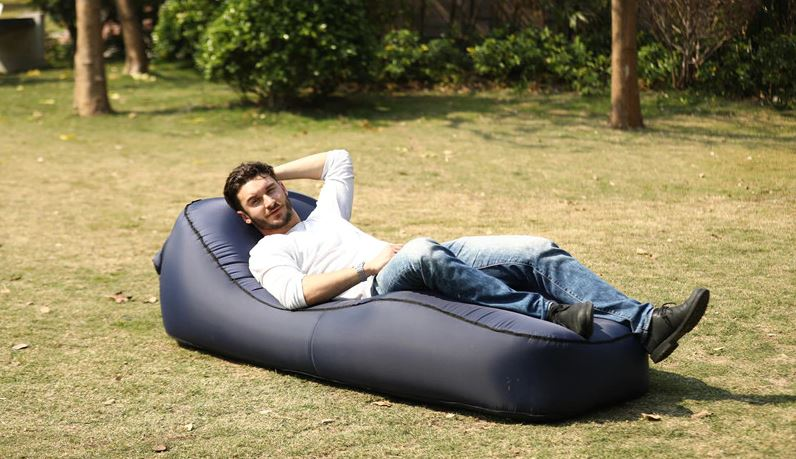 Inflatable Lounger Air Hammock Sleeping Airbag Outdoor Camping