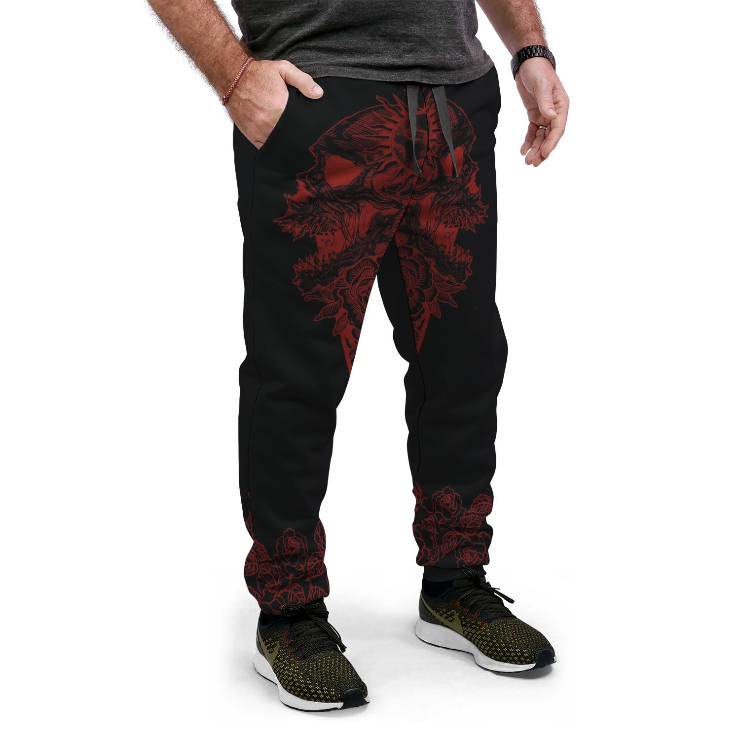 Red floral Jogger Pant