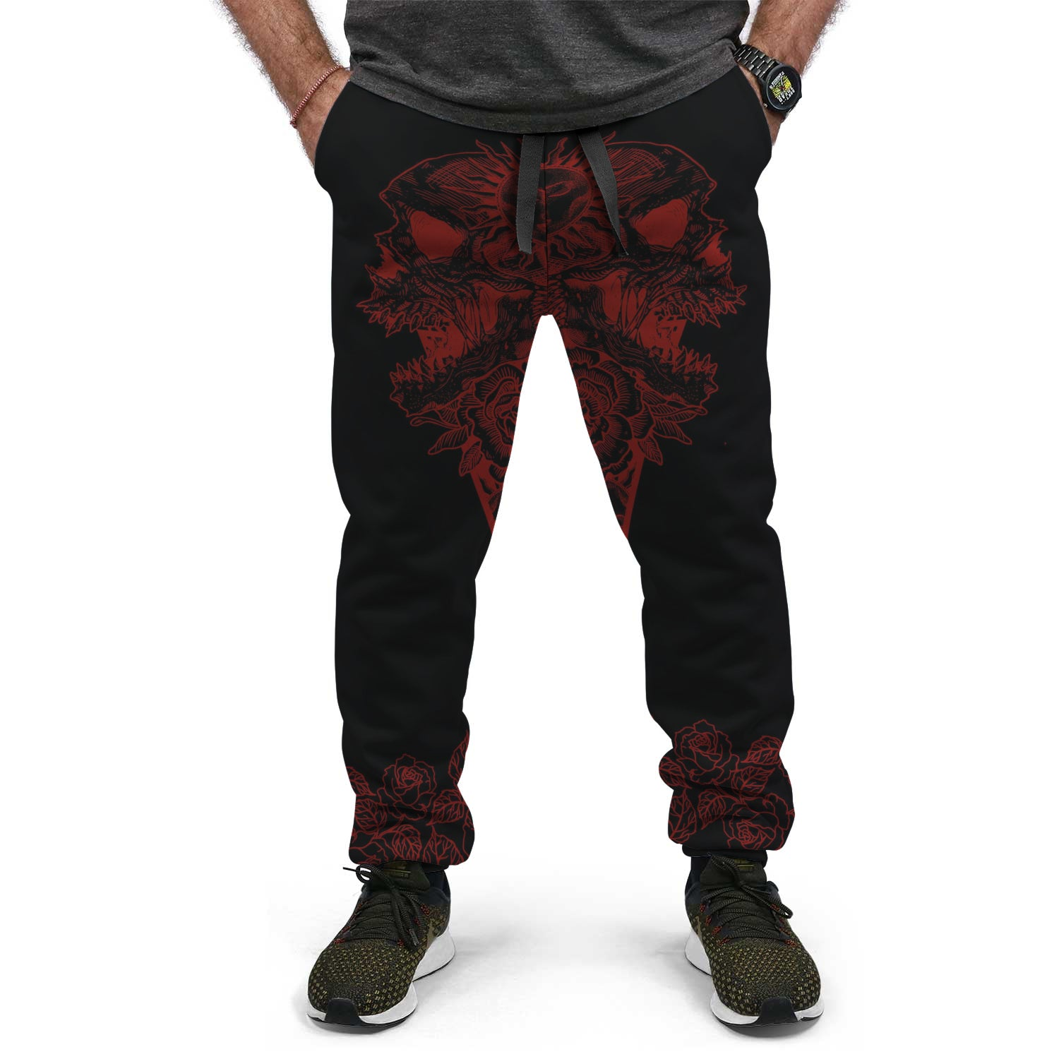 Red floral Jogger Pant - County Kart