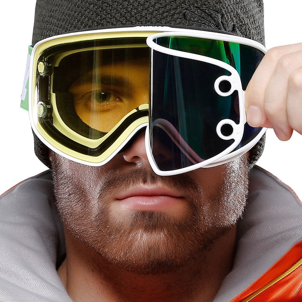 Magnetic Dual-use Lens Night Skiing Goggles