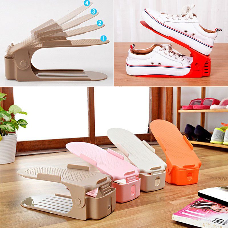 Modern Double-Wide Storage Shoes Organizer (5pcs)
