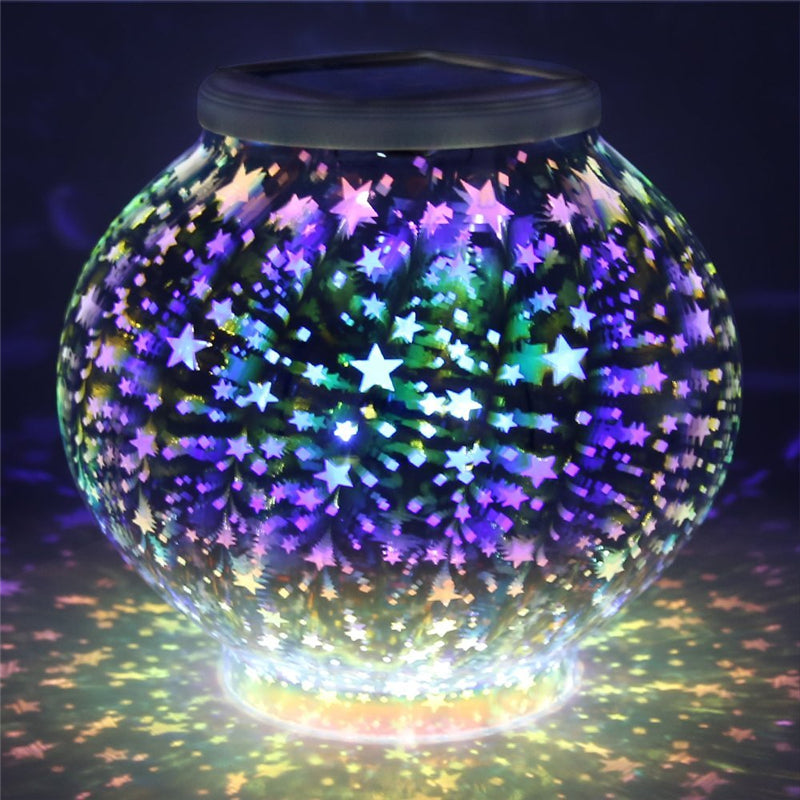 Color Changing Mosaic Solar lamp