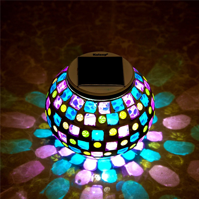 Mosaic glass ball garden waterproof lamp