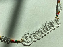 Load image into Gallery viewer, Beaded Nameplate Necklace