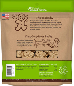Buddy Biscuits Roasted Chicken Formula Dog Crunchy Treats Oven Baked 3.5 Lbs USA