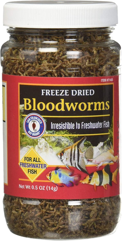 All Natural Freeze Dried Bloodworms Freshwater Fish Food SFB Brand 14g - Piccardmeds4pets.com