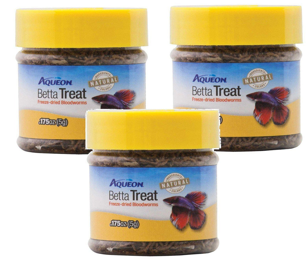 Aqueon Natural Betta Treat Freeze Dried BloodWorms Nutritious Fish Food - Piccardmeds4pets.com
