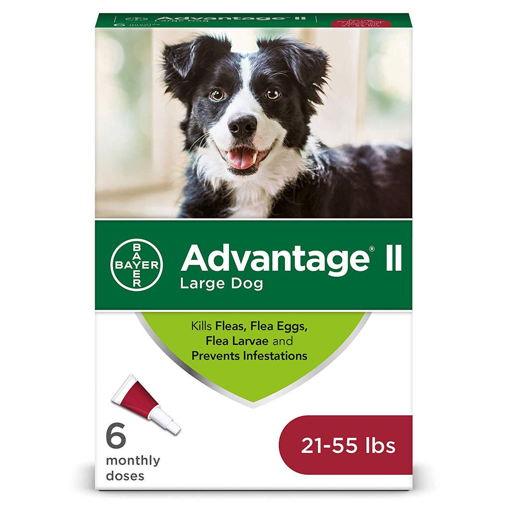 Bayer Advantage II Dogs 21-55 lbs. 6 Months Supply EPA Product - Piccardmeds4pets.com