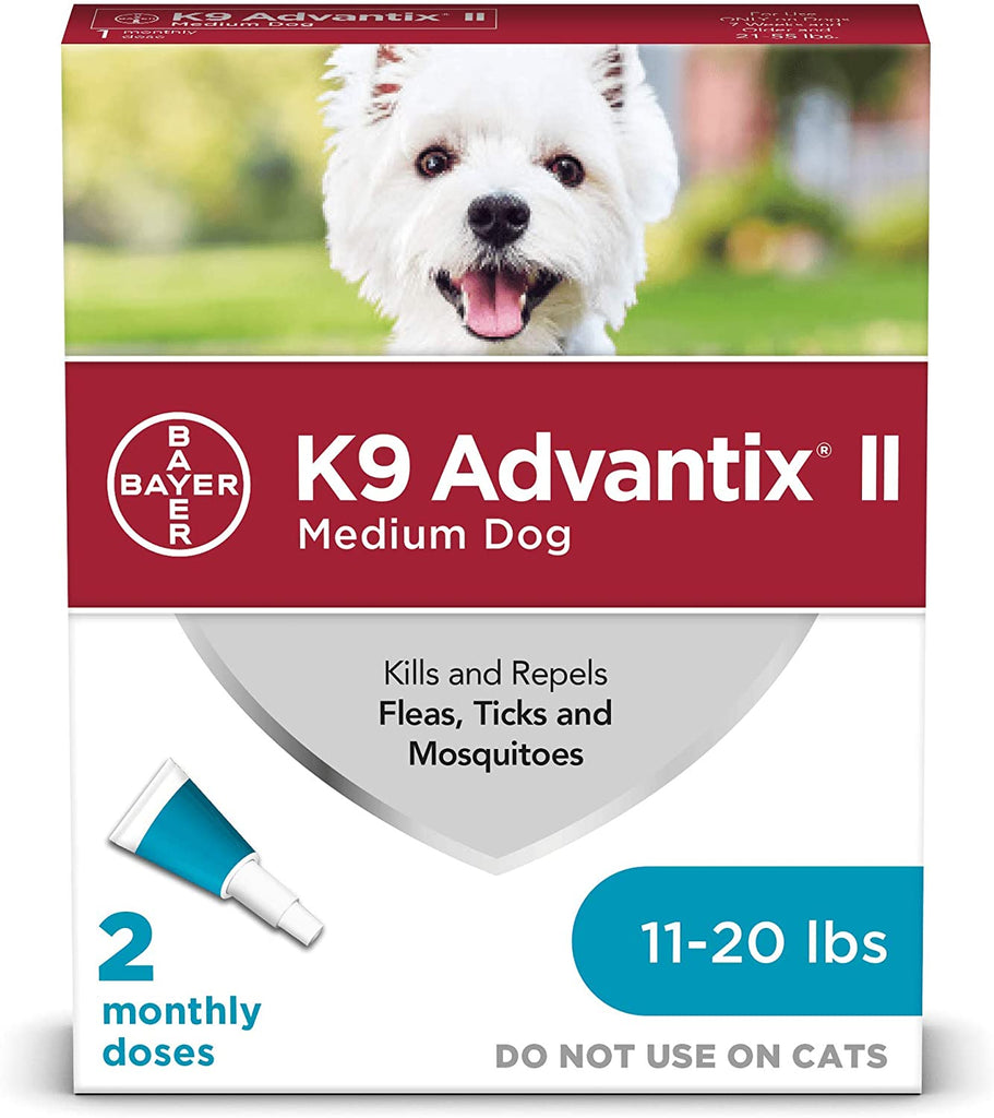 Bayer K9 Advantix II 11-20 lbs. 2-Pack 2 Month Supply EPA for MD Dogs - Piccardmeds4pets.com