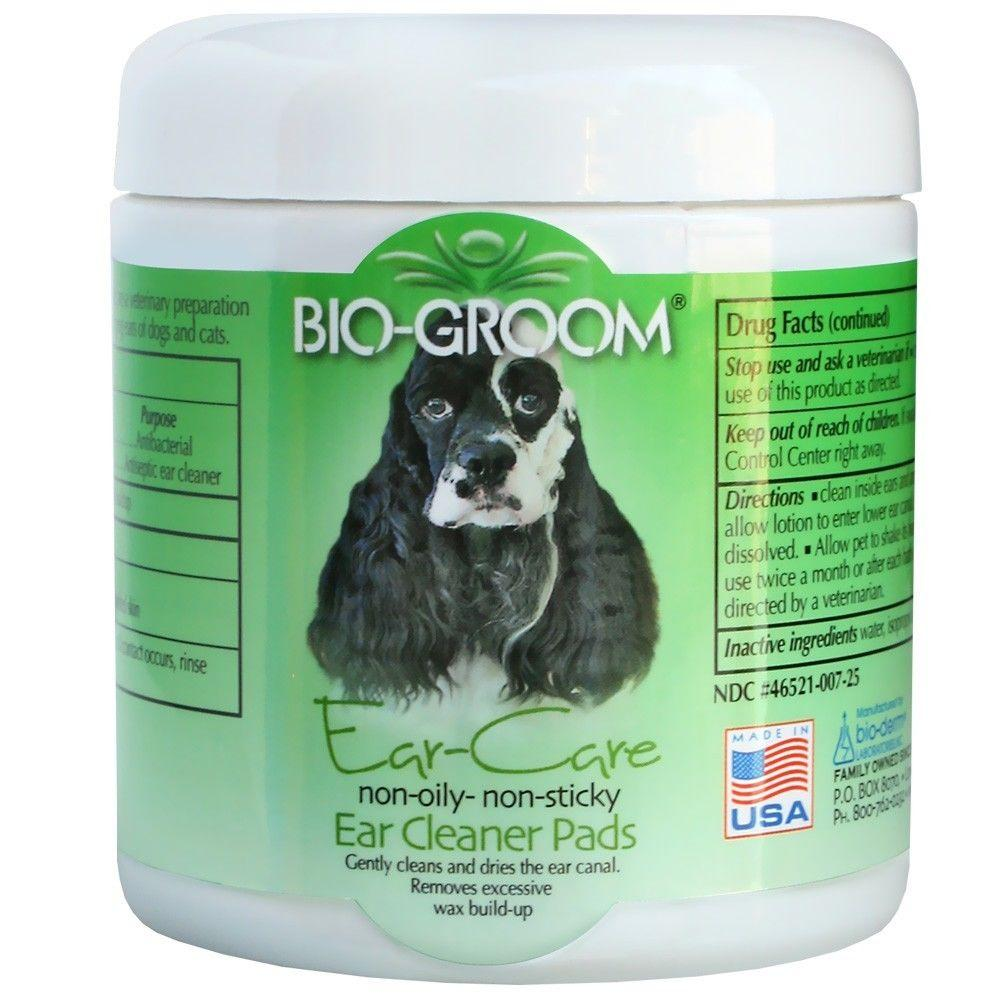 Bio-Groom Ear Cleaner Pads Non-Oily Gently Cleans & Dries Pet Ear Canal - Piccardmeds4pets.com