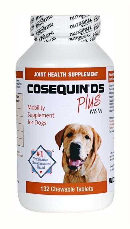 Cosequin DS 132ct Joint Health for Dogs Double Strength Chewable Tablet Plus MSM - Piccardmeds4pets.com