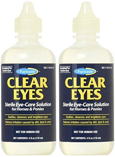 Farnam Clear Eyes Sterile Eye Care Solution Horses & Ponies 4 oz. 2-Pack - Piccardmeds4pets.com