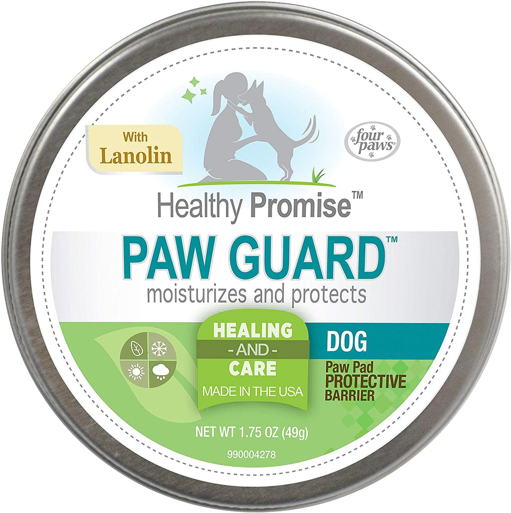 Four Paws Paw Guard with Lanolin Protects & Restores Moisture to Pads 1.75oz Tin - Piccardmeds4pets.com