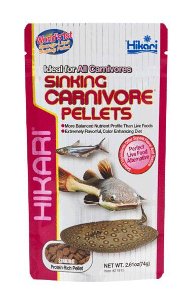 Hikari All Carnivore Fish Sinking Pellets Color Enhancing 2.61 oz. Bag - Piccardmeds4pets.com