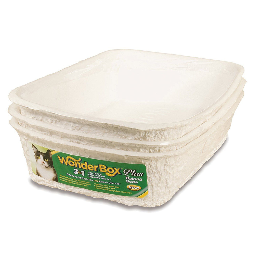 Kitty Wonderbox Plus Durable Disposable Litter Box w/Baking Soda 3-Pack - Piccardmeds4pets.com