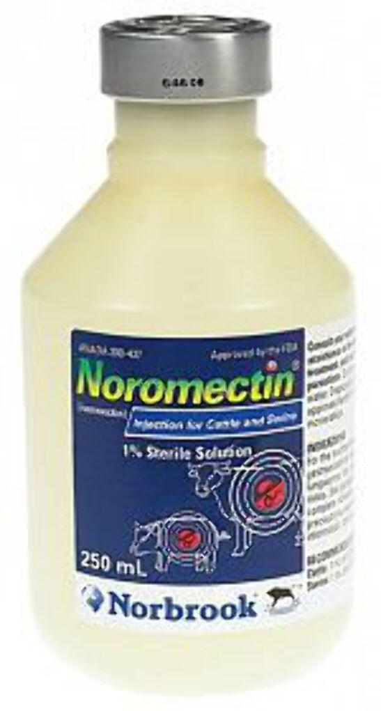 Noromectin Injection Control of Parasites in Cattle & Swine 250 ML - Piccardmeds4pets.com