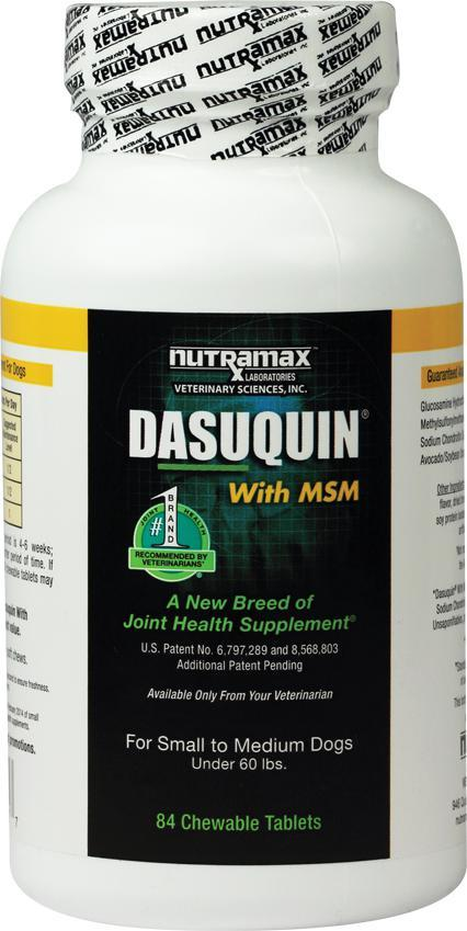 Nutramax Dasuquin with MSM SM/MD Dogs Joint Supplement 84 Chewable Tabs - Piccardmeds4pets.com