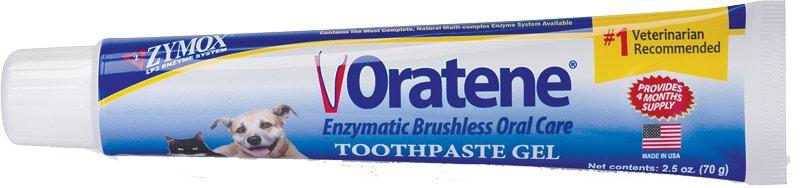 Oratene Veterinarian Maintenance Gel Pet Brushless Toothpaste 2.5 oz - Piccardmeds4pets.com