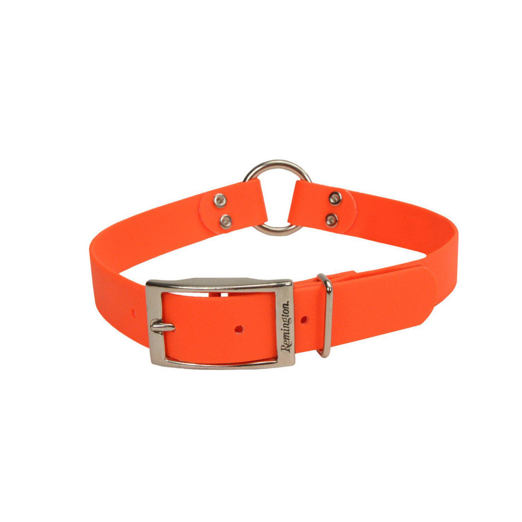 "Remington Orange 1"" Wide Waterproof Hound Dog Collar with Center Ring - Piccardmeds4pets.com"