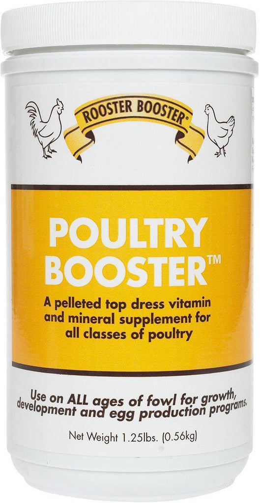 Rooster Booster Poultry Booster Vitamins & Mineral Chicken Supplement 1.25 lbs. - Piccardmeds4pets.com
