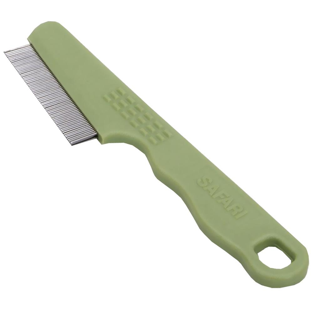 Safari Dog Comb Removes Fleas Nits and Debris Short and Long Haired Pets - Piccardmeds4pets.com