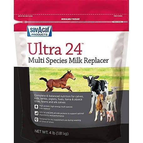 Sav-A-Caf Ultra 24 Multi Species Milk Replacement 4 lbs. - Piccardmeds4pets.com