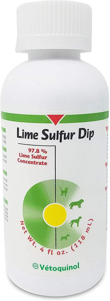 Vetoquinol Lime Sulfur Dip for Dogs Cats Puppies and Kittens 4 oz. - Piccardmeds4pets.com