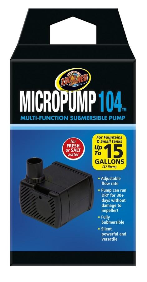 Zoo Med MicroPump 104 Multi Funtion Aquarium Submersible Water Pump - Piccardmeds4pets.com