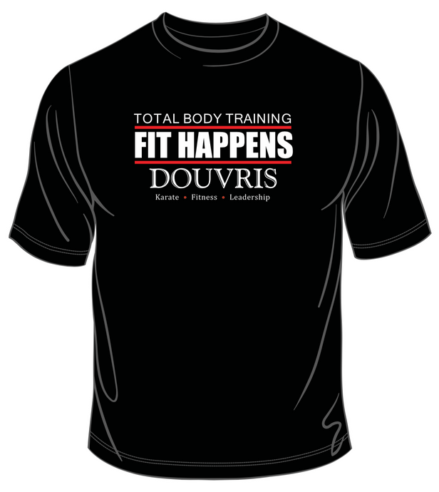 Fit Happens T-Shirt - BLACK