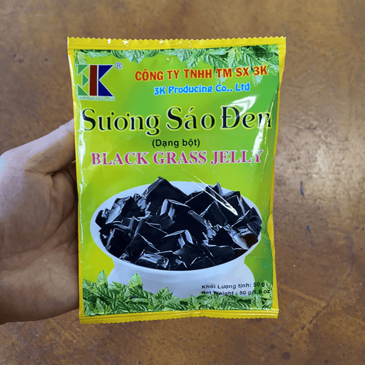 3k Black Grass Jelly (Suong Sao Den), 1.75oz - Eastside Asian Market