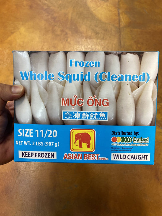 Asian Best Squid - Frozen 11-20 box, 32oz - Eastside Asian Market