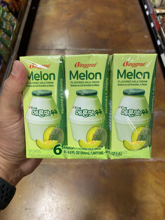 Bingrae Melon Milk, 6.8oz - Eastside Asian Market