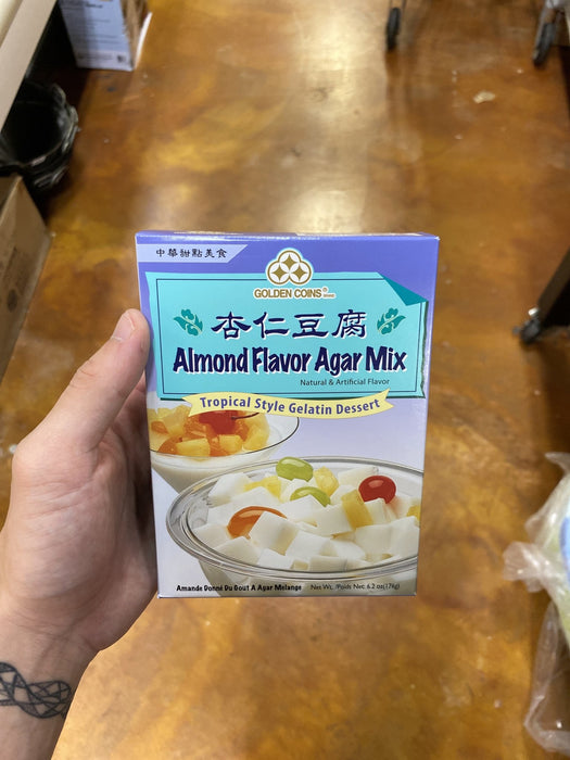 Golden Coins Almond Flavour Agar Mix - Eastside Asian Market