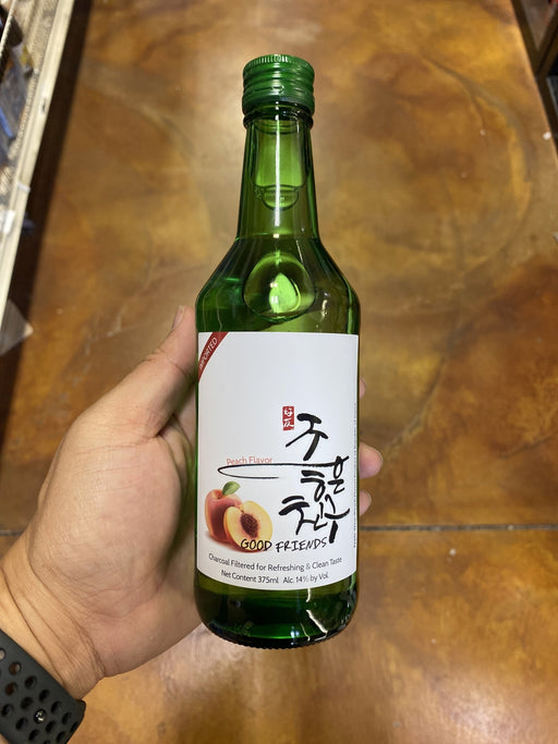 Good Friends Korean Wine Peach, 375ml (must show ID) - Eastside Asian Market