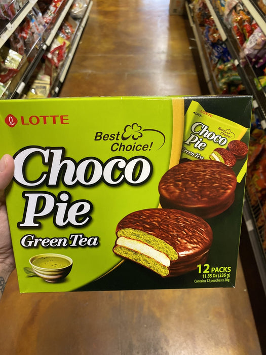 Lotte Choco Pie Green Tea - Eastside Asian Market